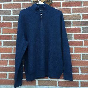 Brooks Brothers 100% Merino Wool Zip Up Sweater